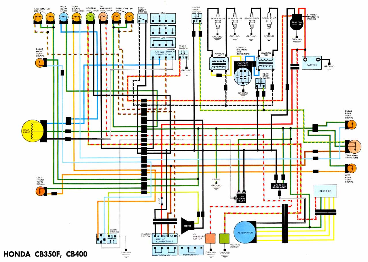 Wiring Diagrams Electronic Horn Schematic Cb400 And Cb350 Four