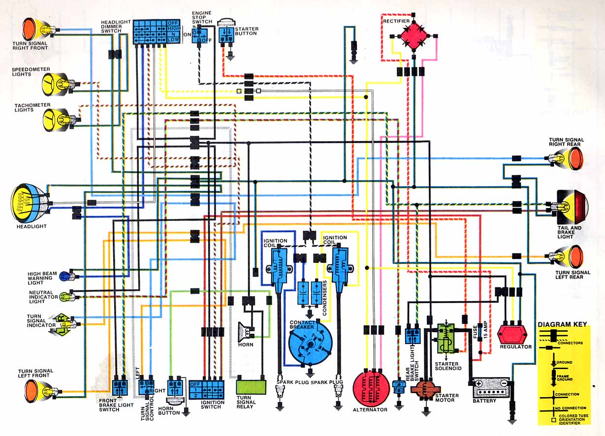 Cb350 K4 Color Electrical Diagram