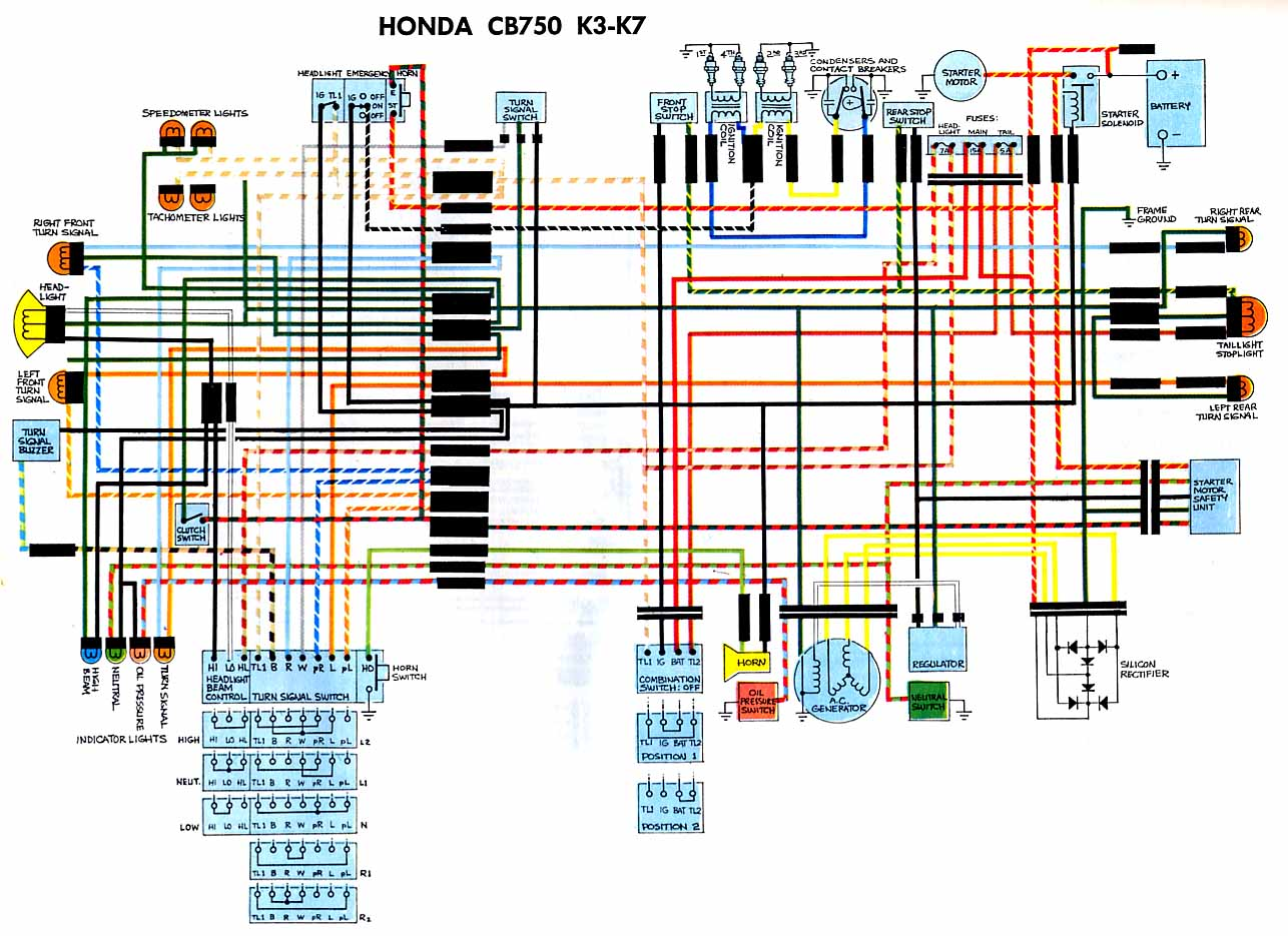CB750k37 wiring diagrams 1978 honda cb750 wiring diagram at soozxer.org