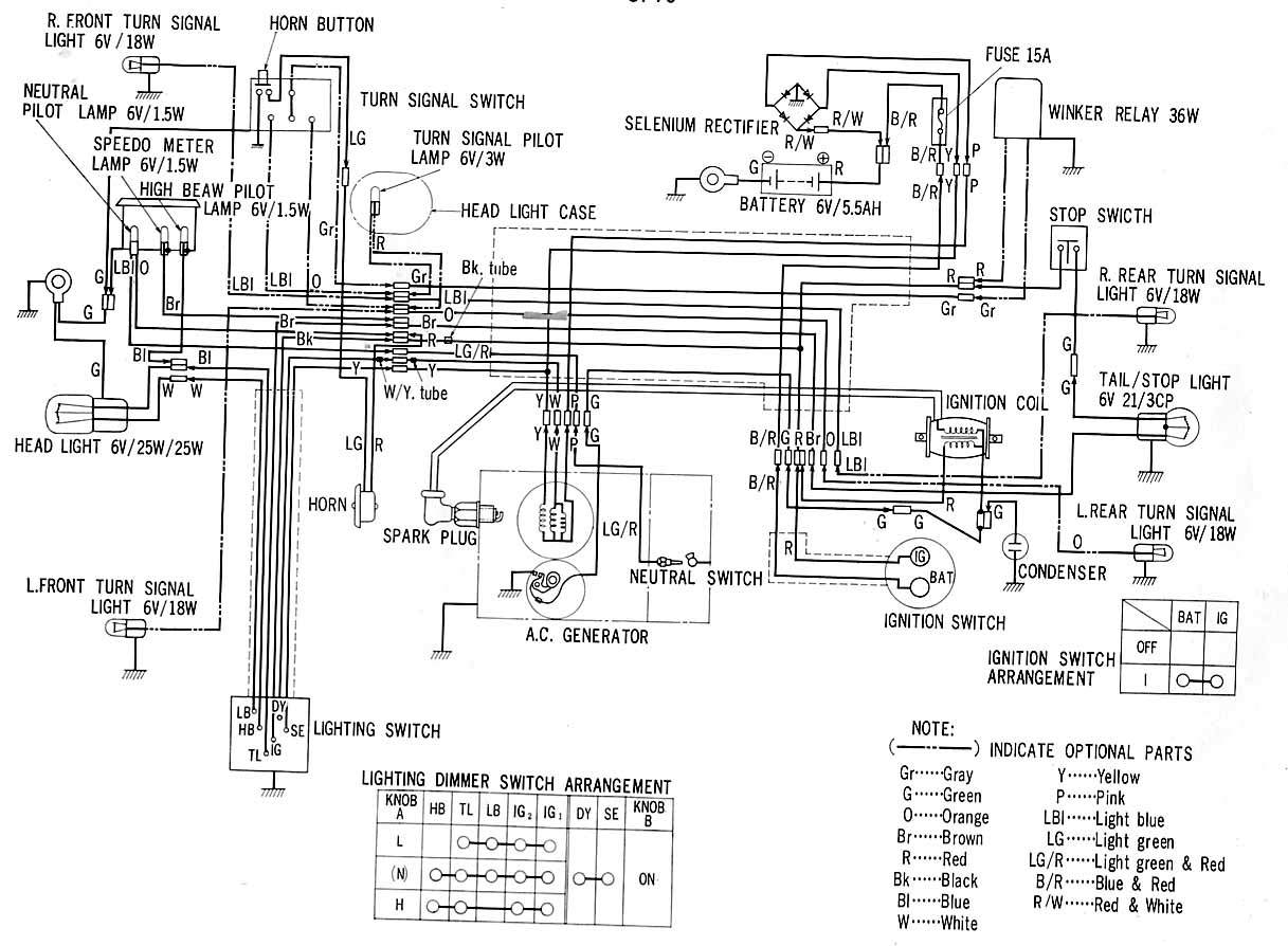 1974 Ct90 K4 Wiring Diagram Online Honda Generator Schematics Data Ignition Switch