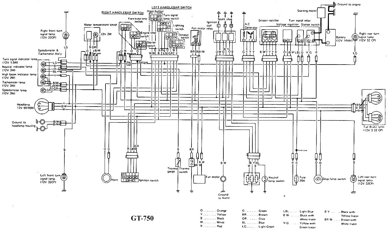 GT750 wiring diagrams on 1982 yamaha maxim 750 wiring diagram