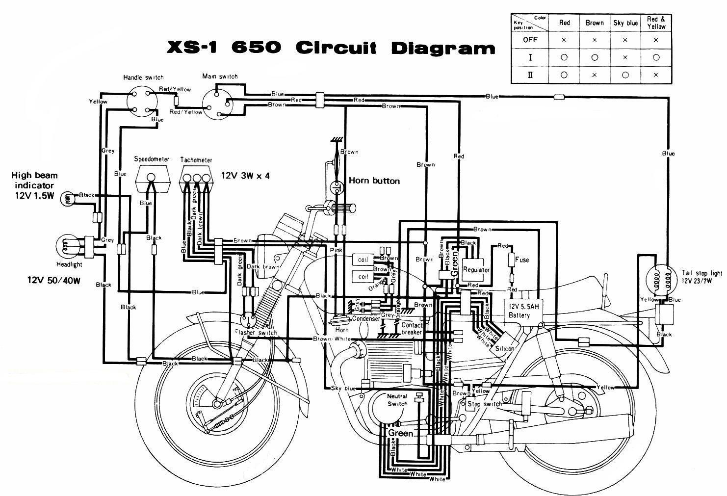 WRG-9303] Xs650 Chopper Wiring Harness 1973 on