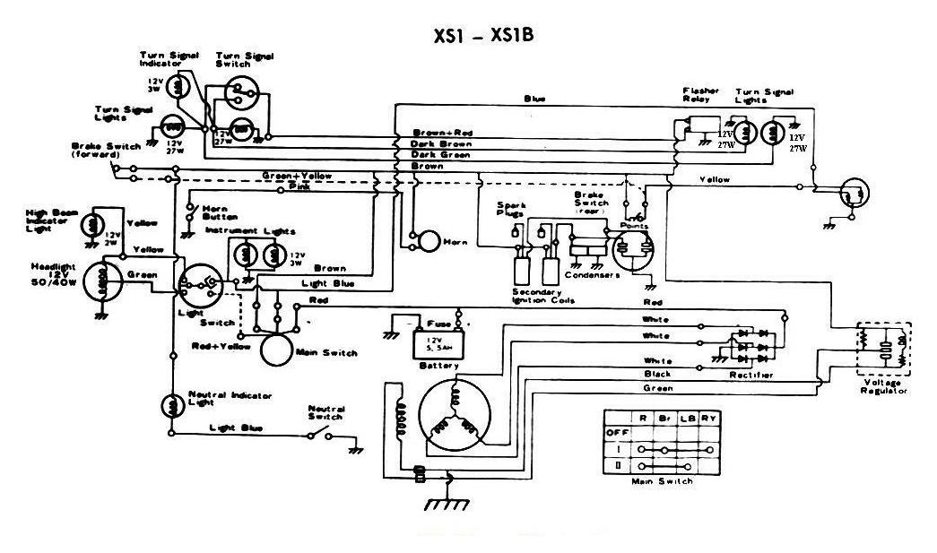 70XS1_2 wiring diagrams 1979 xs650 wiring diagram at crackthecode.co
