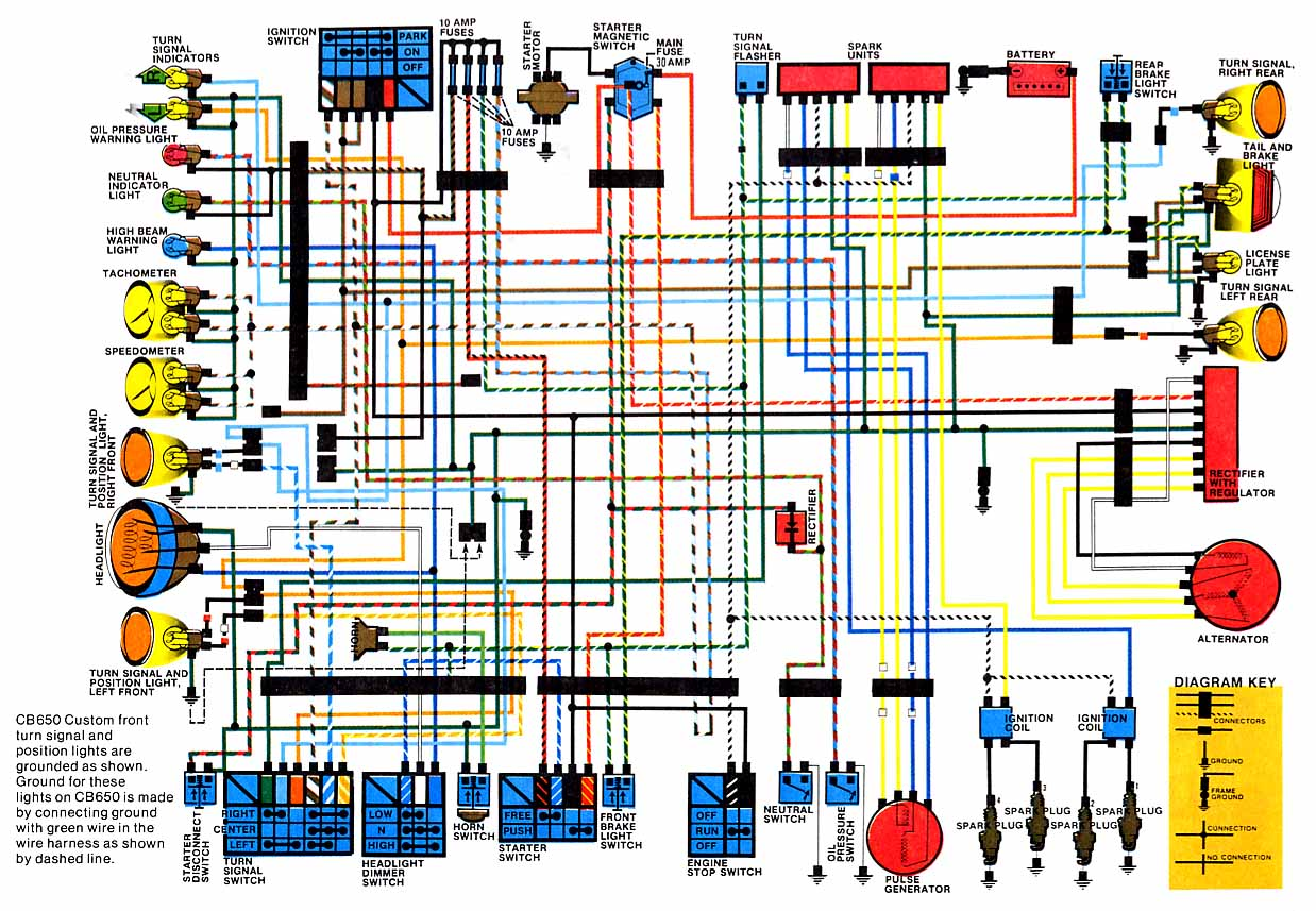 Wiring Diagrams Wire Diagram And Technical Data In A Pdf File Of The Electrical Cb650 198082