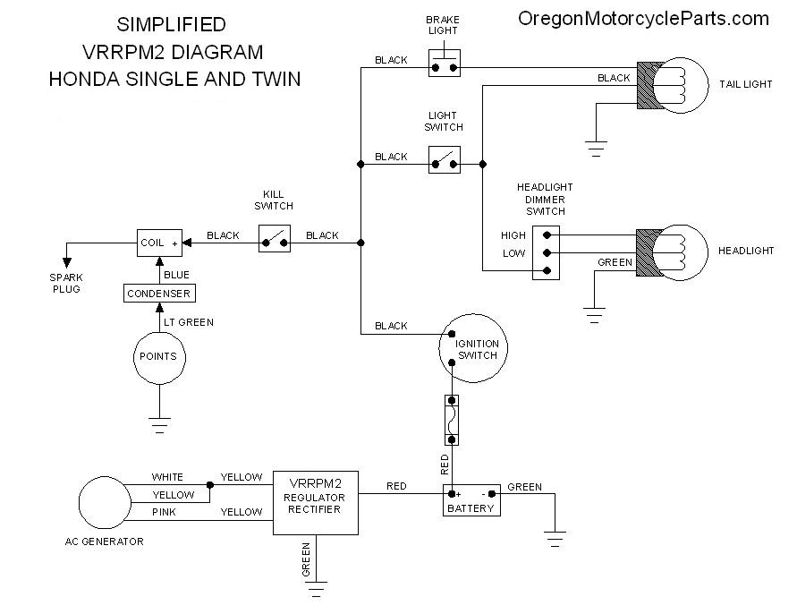 OMP_Honda_VRRPM2_Wiring_Diagram cb450 electrics sprockets forum 1972 cb450 wiring diagram at gsmx.co