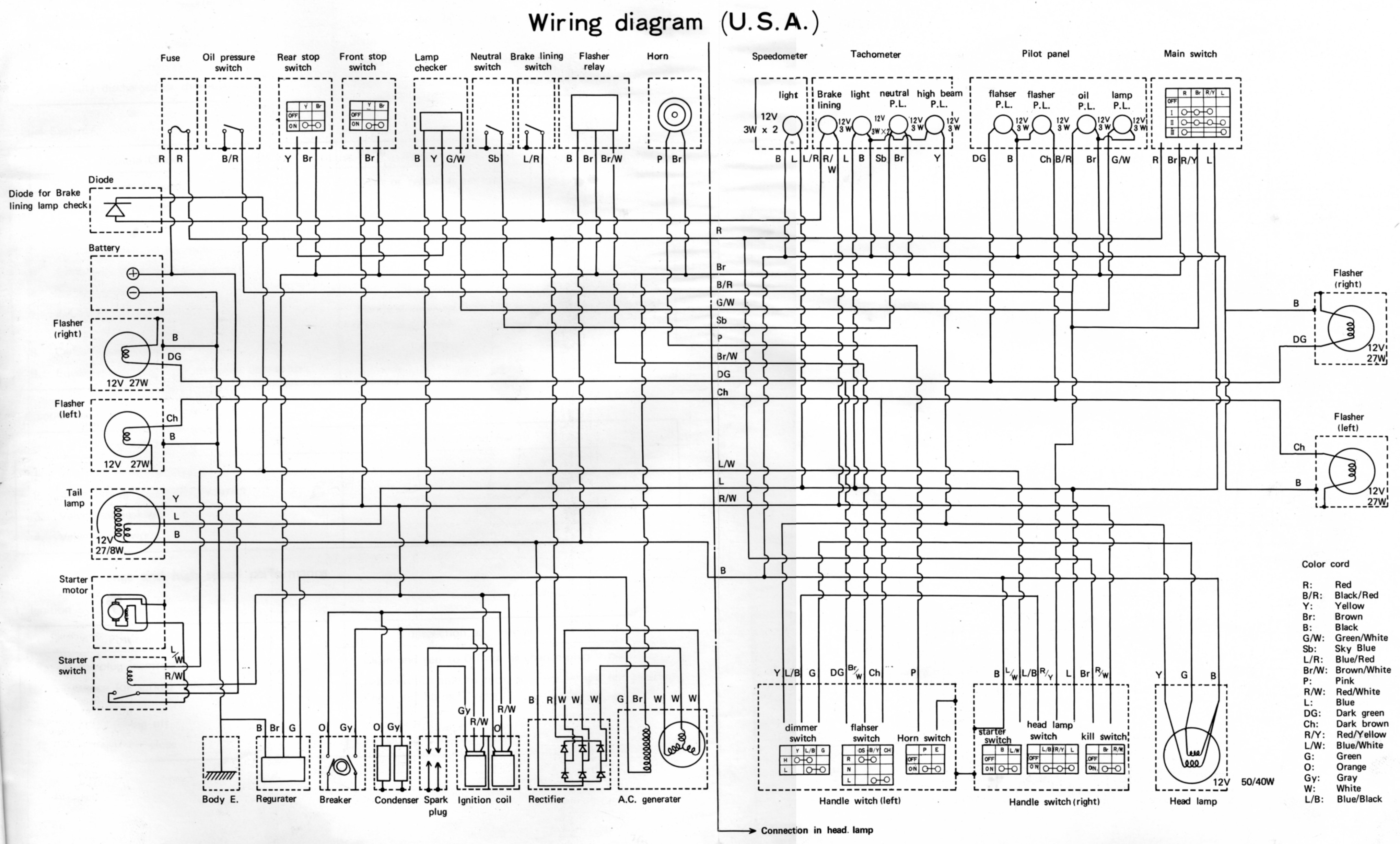 wiring diagrams r5 rd350 diagram and manual electrical section pdf